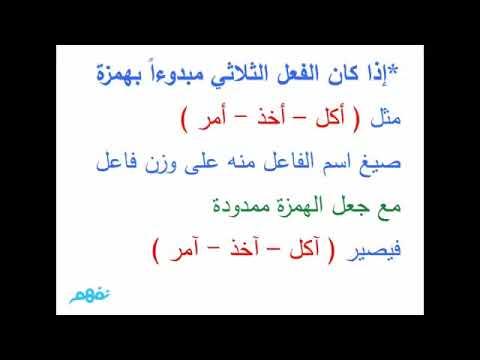 شرح درس إعمال اسم الفاعل نحو اللغة العربية الصف الأول الثانوي نفهم