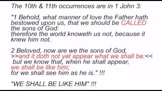 """sons of God"" - Defined by the Bible! - EVERY VERSE IN THE BIBLE this phrase appears!"