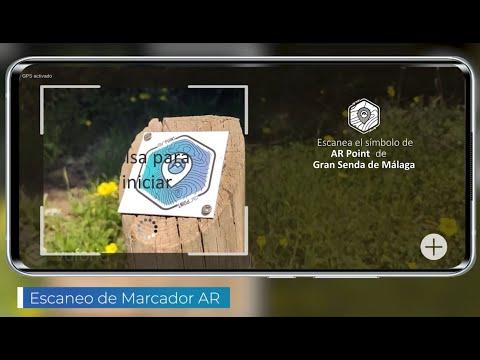 Videoclip 35 seg App de realidad aumentada Gran Senda de Málaga