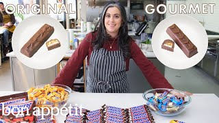 Pastry Chef Attempts to Make Gourmet Snickers | Gourmet Makes | Bon Appétit