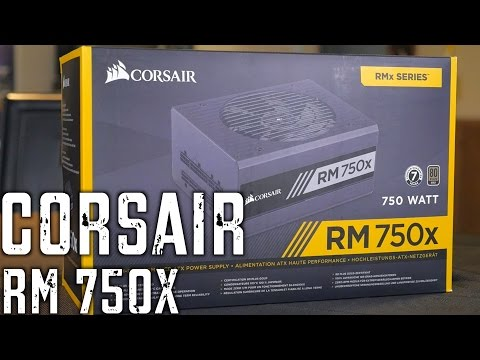 Corsair RM750X Power Supply Unboxing & First Look!