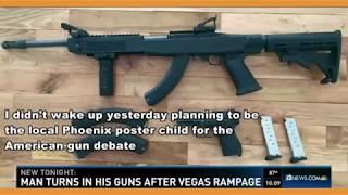 Видео  Американец сдал целую сумку оружия полиции после бойни в Лас Вегасе