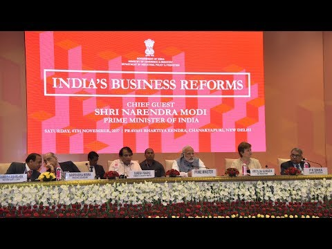 PM Modi attends Ease of Doing Business event at Pravasi Bharatiya Kendra, New Delhi