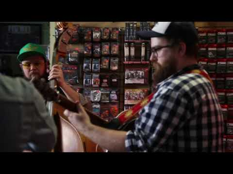 Today in southern nerd culture: a Mario song cover by a bluegrass group in a local comic/game store