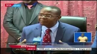Pius Tawfiq Namwamba Ababu has resigned as the Secretary General of ODM