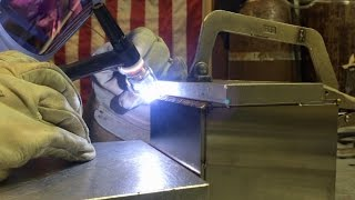 Tig Welding a Stainless Steel Argon Box part 1 of 2