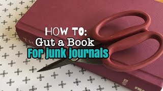 How To Gut A Book For Junk Journals/Handmade Books | Im A Cool Mom