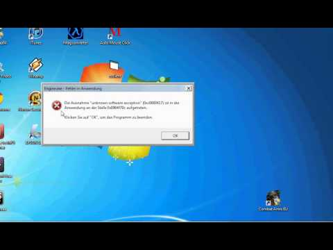 "WTF AGAIN ERROR ""unknow software exception"" (0xc0000417)"