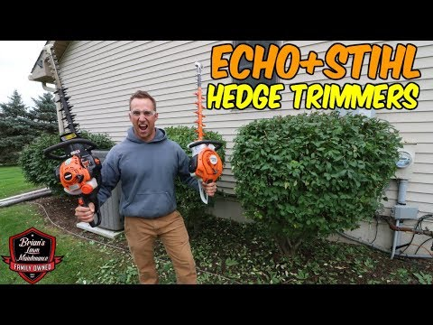 The BEST STIHL & ECHO Hedge Trimmers? Side By Side Comparison ► Which Did We Like Better?