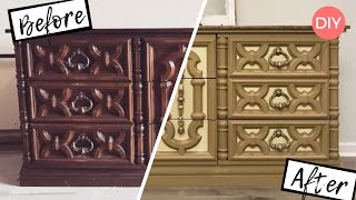 How to Liquid Sand Furniture | Dresser Transformation | Before & After DIY | Ashleigh Lauren