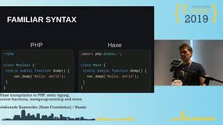 Haxe transpilation to PHP: static typing, arrow functions, metaprogramming and more - Aleksandr Kuzmenko