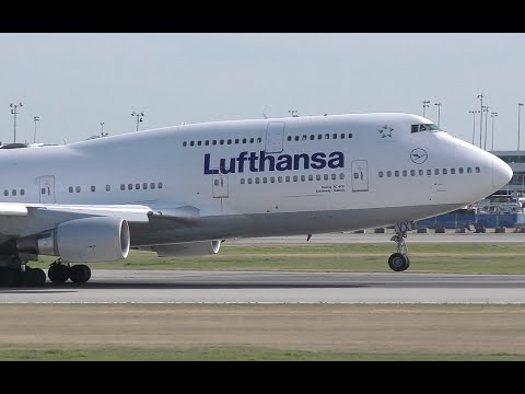 Lufthansa Boeing 747-400 Takeoff From YVR Mp3