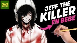 COMO DIBUJAR A JEFF THE KILLER EN BEBE PASO A PASO - Como seria Jeff the killer en bebe