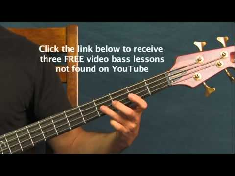 free bass guitar lesson drift away Dobie Gray
