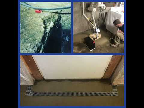 Basement Waterproofing in Ferrisburgh, Vermont, by Matt Clark's Northern Basement Systems.