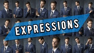 Photo Shoot Tips For Men (Model Poses For Facial Expressions)