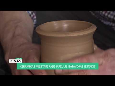 Keramikas meistars Uģis Puzulis gatavojas izstādei