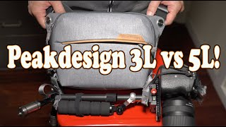 Peakdesign 3L review and comparison to the 5L v1