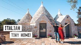 Luxury TINY HOUSE in Southern Italy! - Traditional Trullo Tour & Alberobello (Puglia)