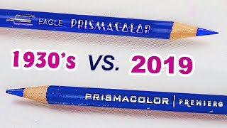 Comparing 80 YEAR OLD Prismacolor VS 2019 Prismacolor Pencils: Have They Gotten Better Or Worse?