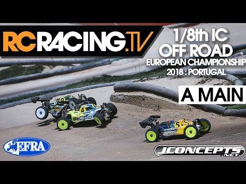 EFRA 1/8th Off Road  Euros - A Main Final 2018
