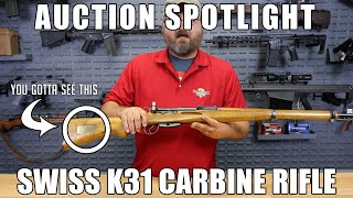 [Auction] Swiss K31 Carbine Rifle - 7.5x55 Very Good Surplus Condition - C&R Eligible - Serial # 562337