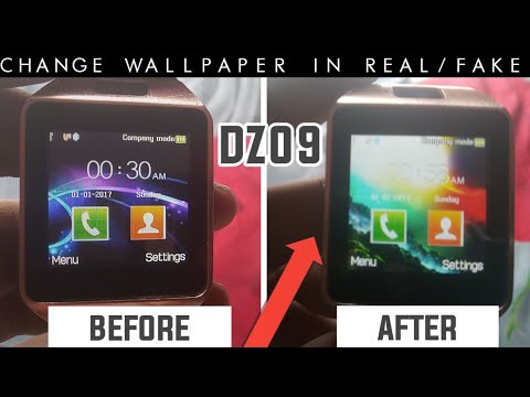 How to change wallpaper of Real/Fake Dz09 smartwatch||Dz09 smartwatch ka wallpaper kaise change kare