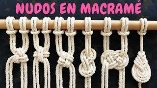 6 Nuevos NUDOS En MACRAMÉ (paso A Paso) | 6 New Knots In Macrame