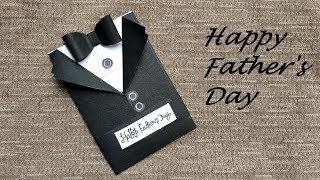 DIY - Fathers Day Greeting Card Ideas | Handmade Fathers Day SUIT Cards
