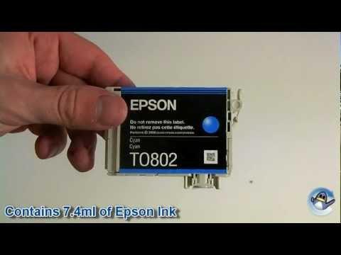 Inside Epson T0802 Cyan (Hummingbird) Ink Cartridge