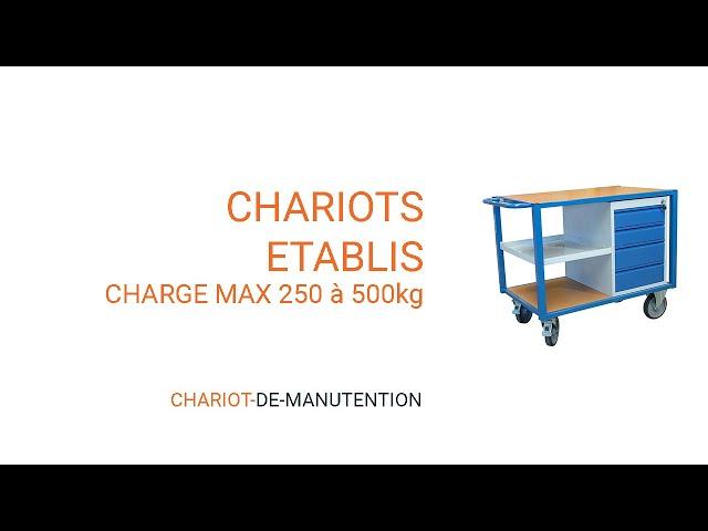Vidéo gamme chariot établi
