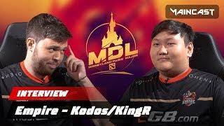 Kodos/KingR — о читах, верхней сетке для Team Empire и возможных заменах