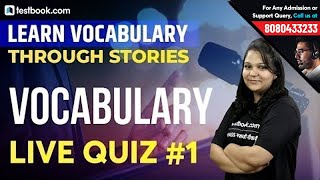 English Vocabulary Live Quiz #1 | Learn Vocabulary through Stories | Important for SSC & Bank