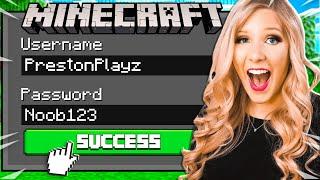 I Hacked Preston's Minecraft Account! *don't tell him*