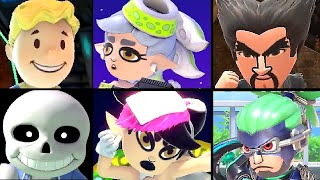 Super Smash Bros Ultimate All Mii Fighter Reveal Trailers (Vault Boy, Marie, Callie Costumes + More)