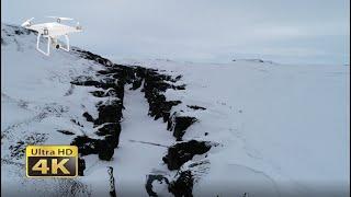 Fjaðrárgljúfur Canyon In Iceland, 4K DJI Phantom Drone