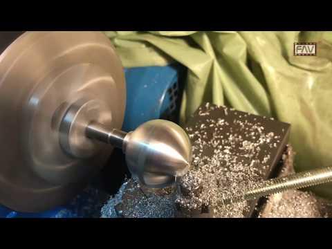 Tornitura  sferica con utensile autocostruito