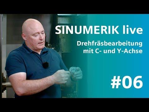 SINUMERIK live: Drehfräsbearbeitung mit C- und Y-Achse