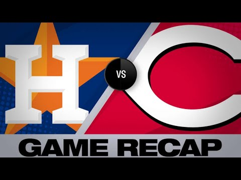 Senzel ties game, Winker walks it off in 9th   Astros-Reds Game Highlights 6/19/19