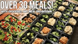 OVER 30 MEALS - Meal Prep With Groceries and Macros - Get Ripped Episode 10