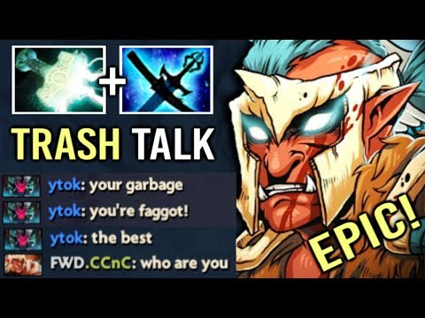 He Think It's Over and Started To Trash Talk But, New Mjollnir Troll Got Out of Control 7.21 Dota 2