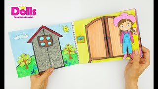 QUIET BOOK FARM ANIMALS & BABIES HANDMADE PAPERCRAFT FOR KIDS