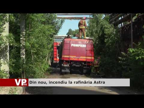 Din nou, incendiu la rafinăria Astra