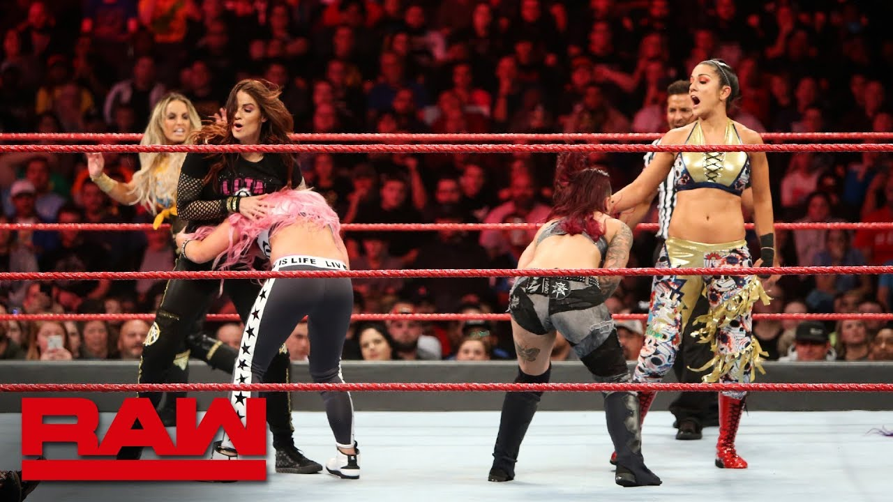 Stratus, Lita, Banks, Bayley & Natalya vs. Riott Squad, James & Fox: Raw, Oct. 29, 2018