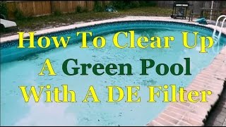 How To Clear Up Green/Cloudy Swimming Pool Water W/ DE Filter