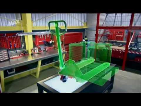Video de Discovery que explica como funciona una Transpaleta hidraulica.