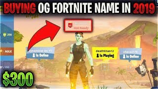 How To Get An Og Name In Fortnite