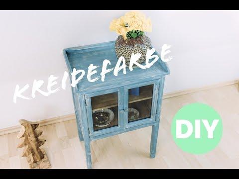 Kreidefarbe streichen * Shabby Chic Stil mit Zweischichttechnik * Möbel streichen