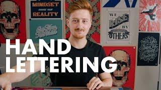 Hand Lettering Tutorial w/ UK Calligrapher & Lettering Artist James Lewis