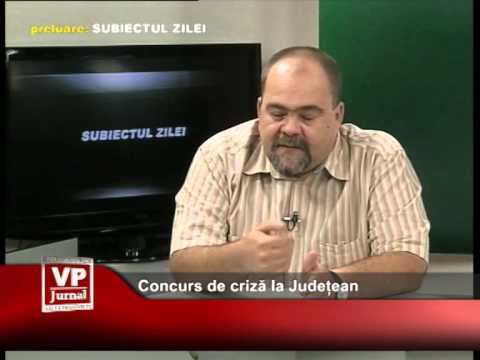 Concurs de criză la Județean